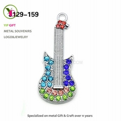 Fashion Inlay Stone Guitar for Necklace