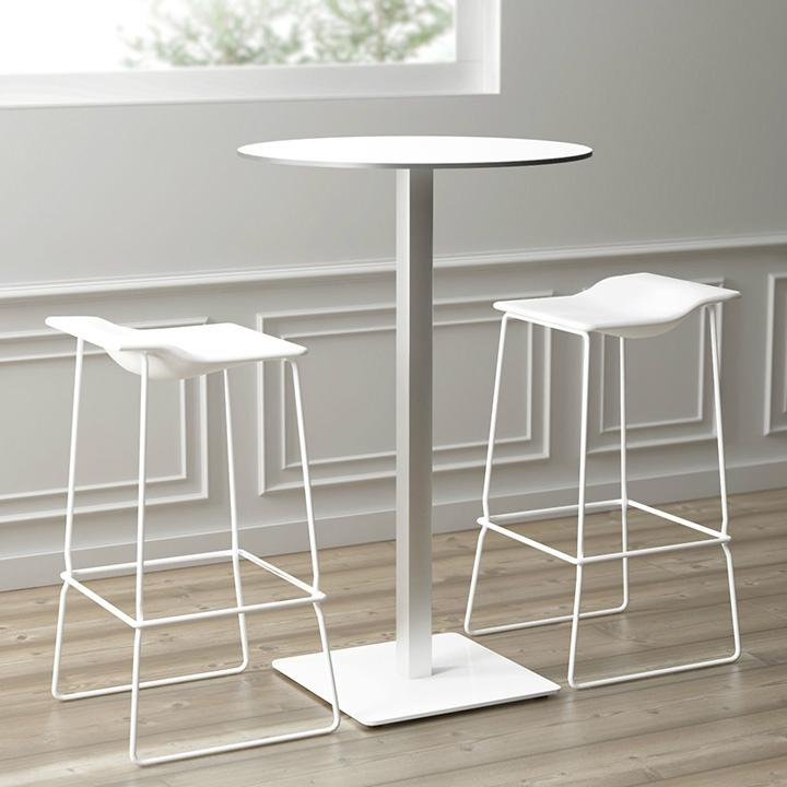 Uispair Modern 100% Steel Round Coffee Table Office Table for Home Office Decora 1
