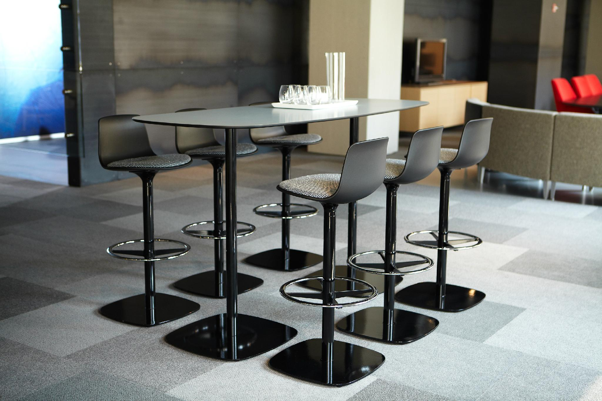 Uispair Modern 100% Steel Round Coffee Table Office Table for Home Office Decora 5