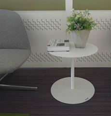 Uispair 100% Steel Round Plate Simple Modern Coffee Table Office Table