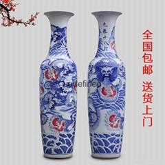 景德镇手绘陶瓷大花瓶