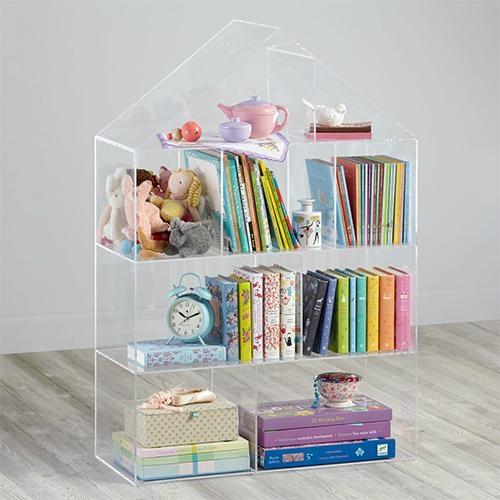 Colorful Acrylic Display Cases on Wall Mounted Display Shelf 2