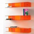 Colorful Acrylic Display Cases on Wall Mounted Display Shelf 5
