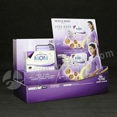 UV Coating Corrugated Counter Top Display Milk Powder Display