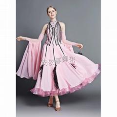 Taior-Made Pink Lots of Layers Ballroom Dance Dress Ballroom Gown Standa