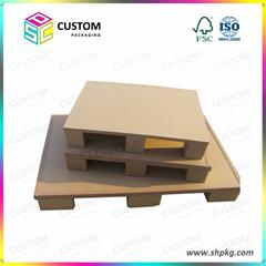 Paper pallets wood pallet
