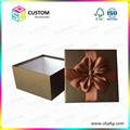 Rigid cardboard paper jewelry box