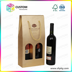 Paper wine carrier beer carrier