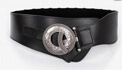 elastic stretch waistband lady  belt