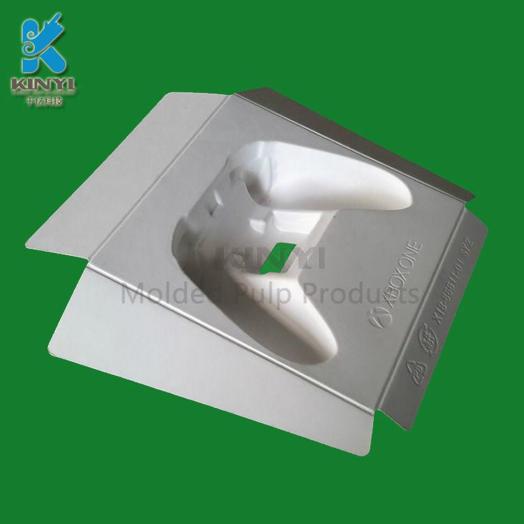 High quality Custom biodegradable Disposable molded paper pulp product packaging 3