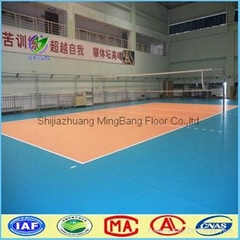 2016 new products indoor play mat volleyball sports floor pvc flooring