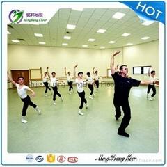 dancing hall usage commercial pvc homogeneous indoor floor roll