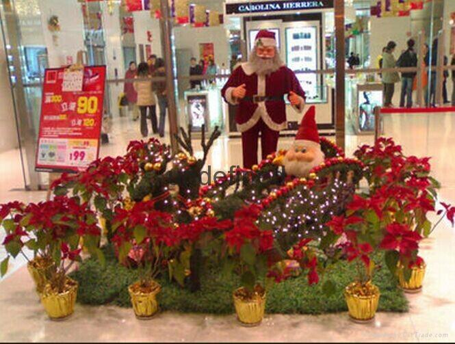 天津圣诞商场装饰天津圣诞节装饰图片装饰品有哪些圣诞节装饰方案 5