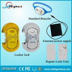 Newest card unlock RFID cabinet lock locking without handle