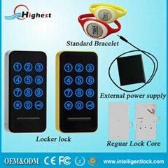 Single card and double card and code unlock card key cabinet lock
