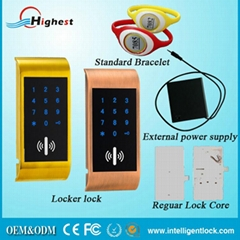 2016 RFID electronic card and code locks for cabinet doors with popular design