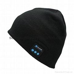 Soft Warm Beanie Hat Wireless Bluetooth Smart Cap Headset Headphone Speaker Mic