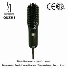 Mini hair straightening brush cordless rechargeable