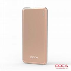 DOCA D606 5000mAh  External Battery Power Bank For Mobile Phone
