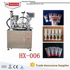 Ultrasonic tube filling sealing machine for cosmetic