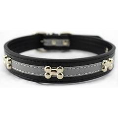 Reflective Leather Dog Collars