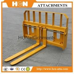 Pallet Fork Attachments For skid steer loader