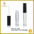 Clear lipstick tube case for empty lip