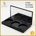 Black 3 pans oem and odm eye shadow make