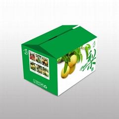 對口梨水果箱印刷包裝設計定製批發
