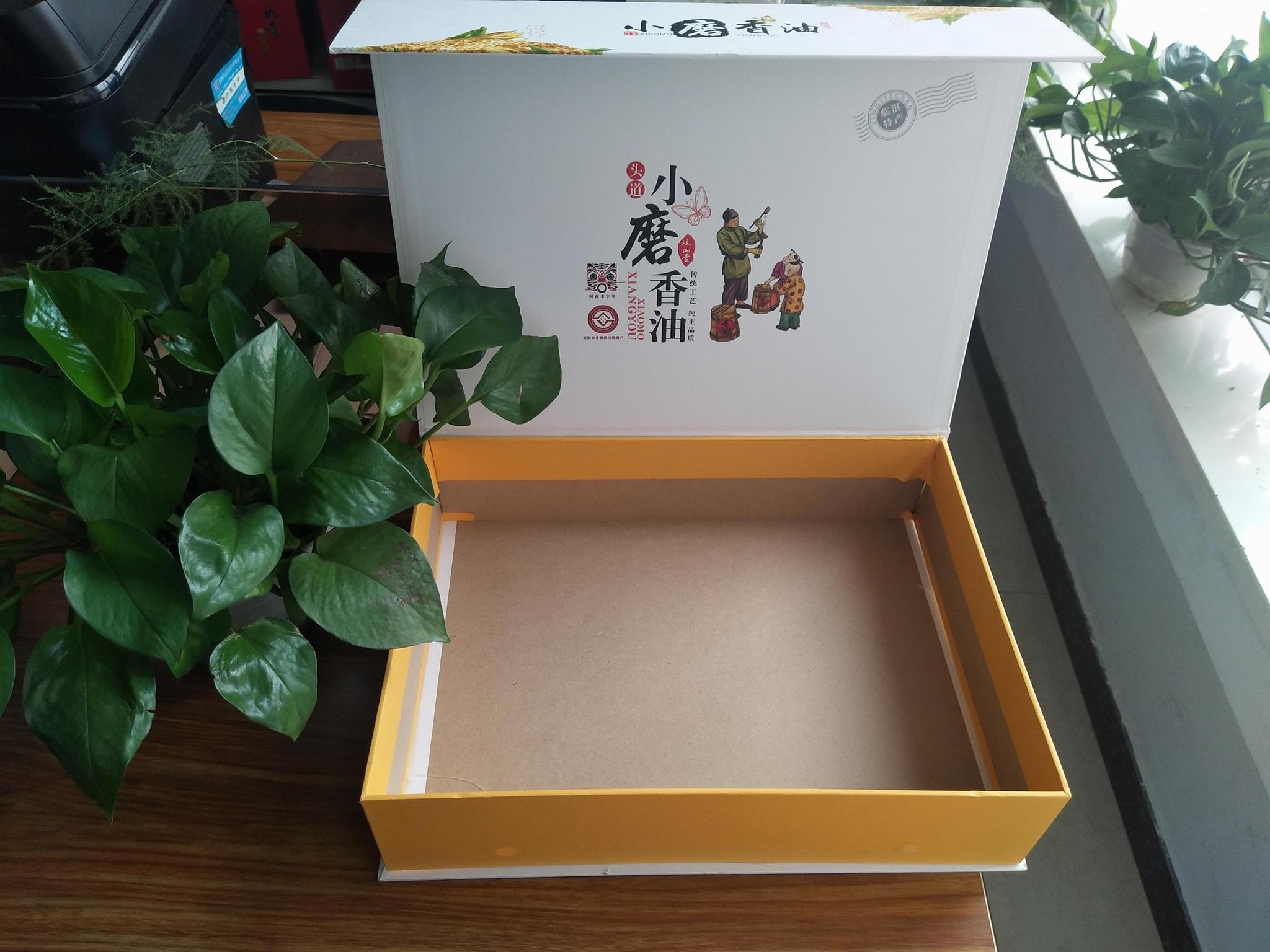 印刷小磨香油禮品包裝盒定製加工批發  3