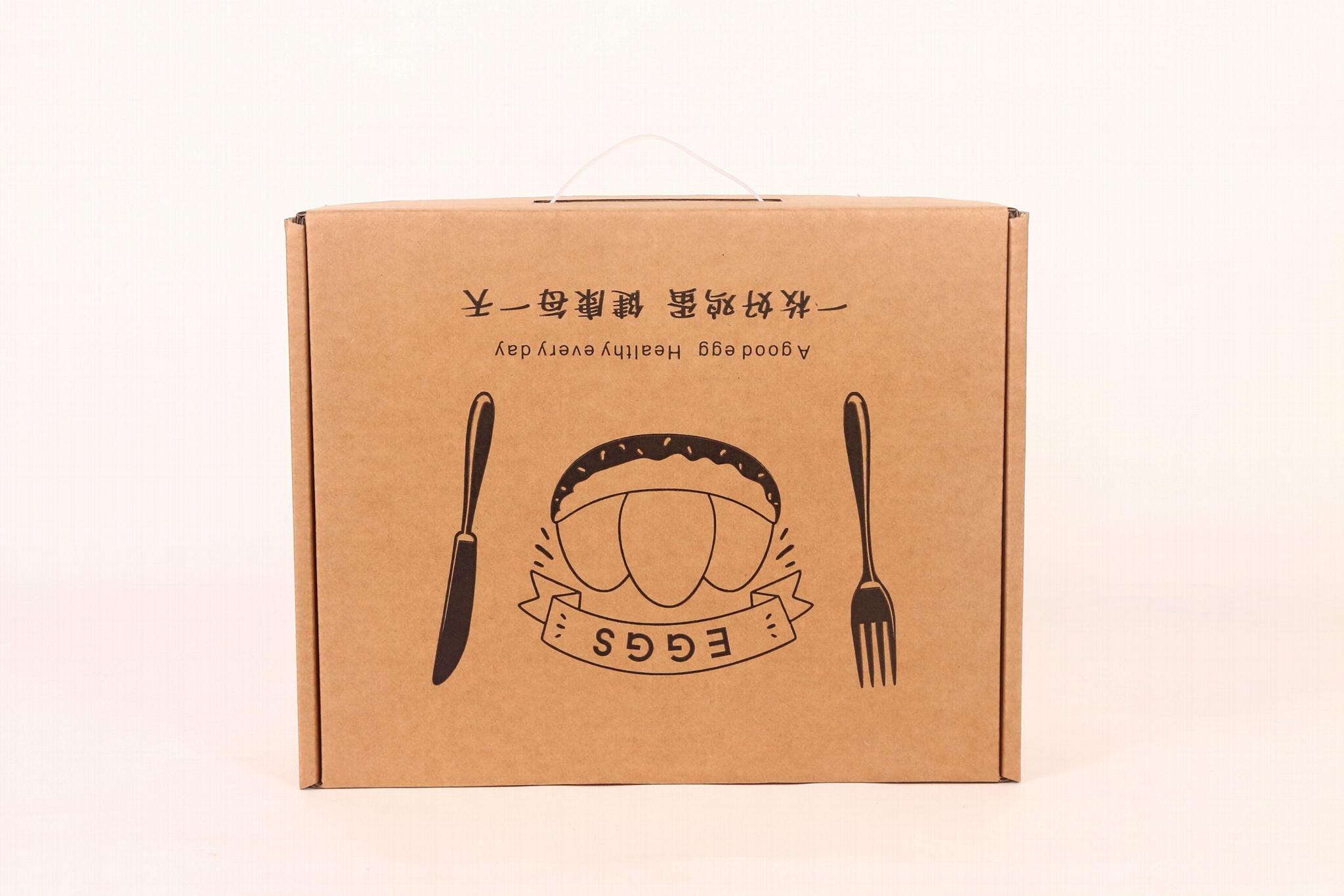 30枚雞蛋現貨通用手提飛機盒快遞包裝箱牛皮紙珍珠棉內托禮品盒 1