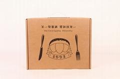 30枚雞蛋現貨通用手提飛機盒快遞包裝箱牛皮紙珍珠棉內托禮品盒