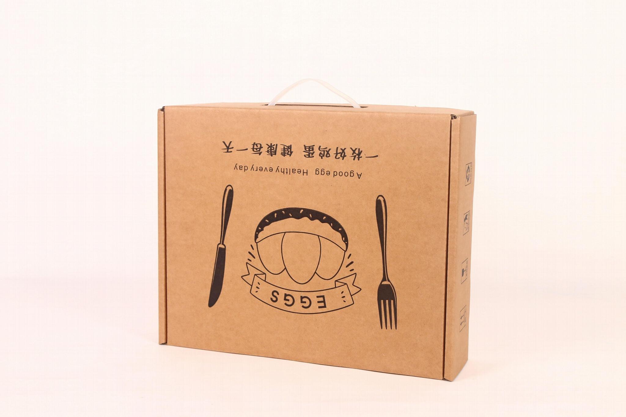 30枚雞蛋現貨通用手提飛機盒快遞包裝箱牛皮紙珍珠棉內托禮品盒 2
