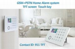 GSM PSTN wireless wired smart home burglar alarm security system