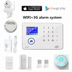 WIFI GSM wireless home house security alarm systems made in China