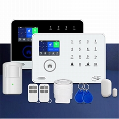 APP control supported wireless WIFI GSM 3G home security alarm system