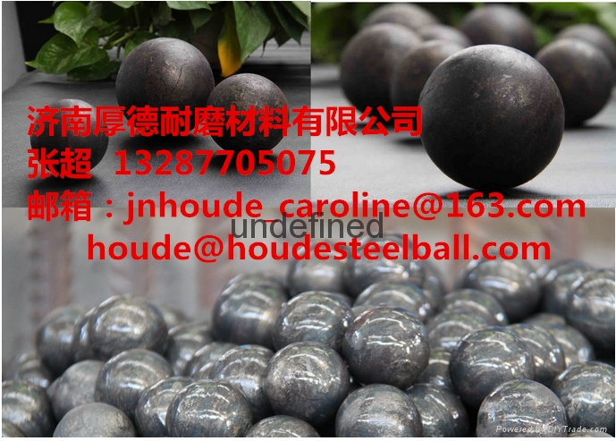60Mn 3inch forged grinding steel ball for copper mine  3