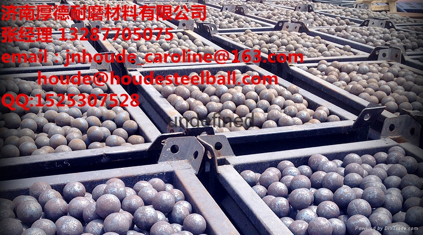 60Mn 3inch forged grinding steel ball for copper mine  5