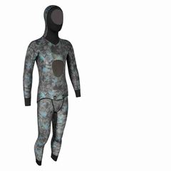 Two piece Jacket with hood & long Johns neoprene spearfish scuba wetsuit