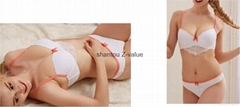 Thailand stylish bright fabric hotel one piece bra and brief set