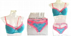 2016 Hot sale ladies lace panty and bra sets i
