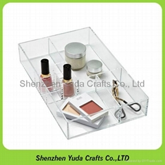 Acrylic tray organizer boxes home application lucite tray