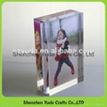 Acrylic photo frame block clear lucite photo display