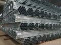 welded Pre galvanized round pipe in
