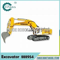 1:12 scale RC hydraulic Liebherr excavator model