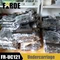 Metal undercarriage track Chassis for 1/12 Excavator Loader model