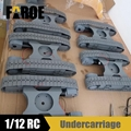 Metal undercarriage track Chassis for 1/12 scale RC Liebherr Excavator model