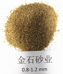金石砂業濾料石英砂0.8-1.2mm