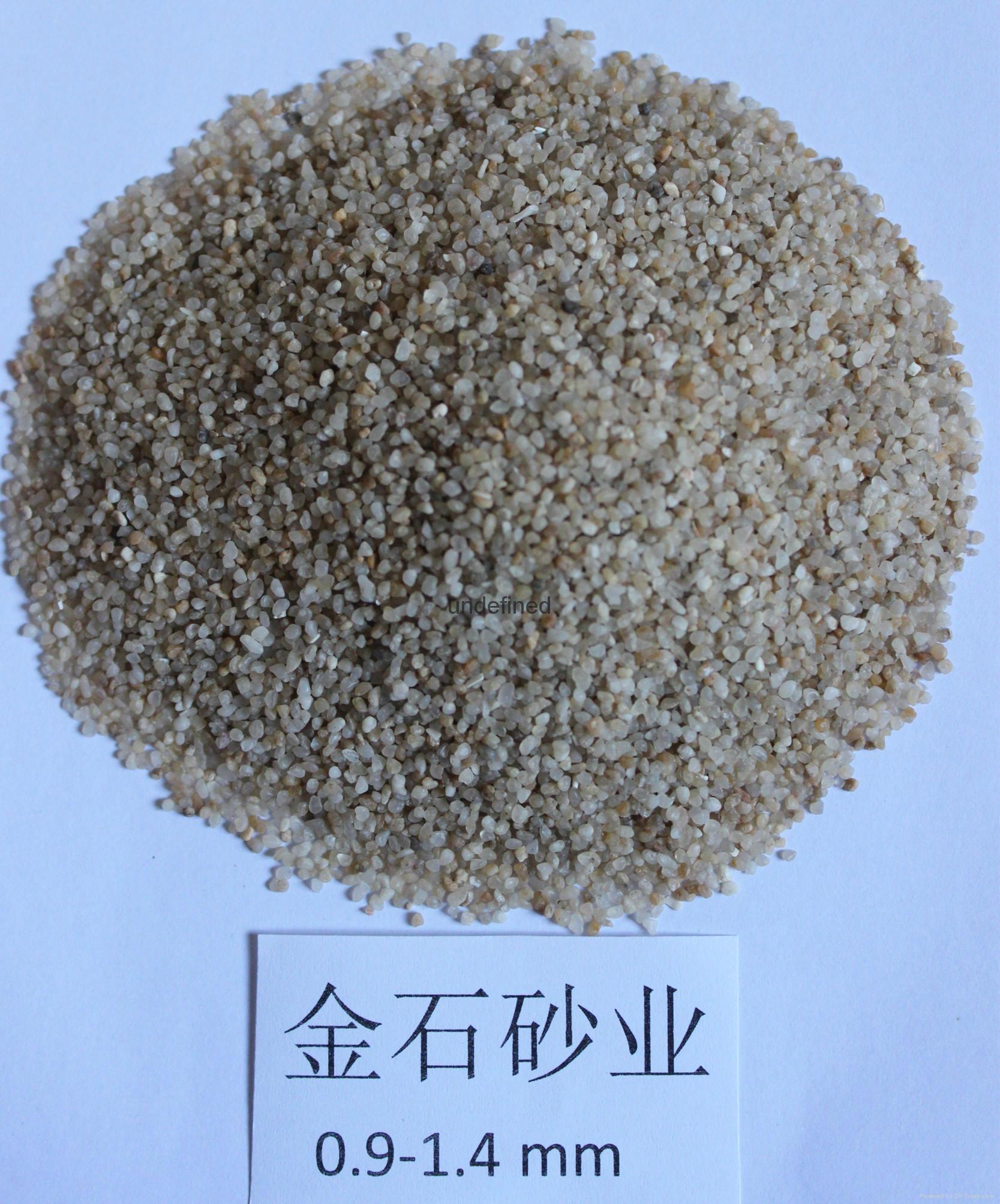 金石砂業濾料石英砂0.9-1.6mm 2