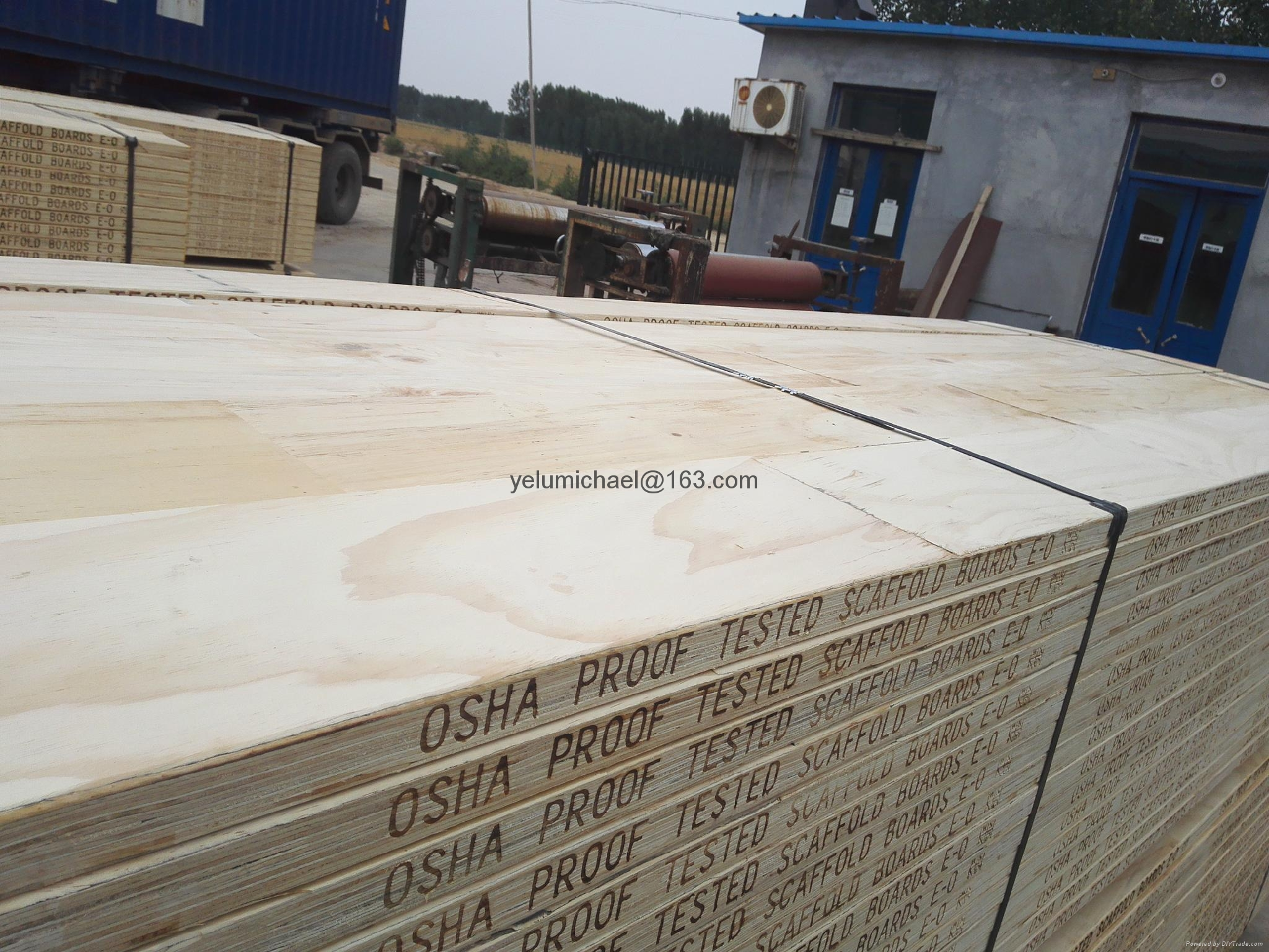 Laminated Pine Board ~ Pine laminated scaffold board for wholesale yelu